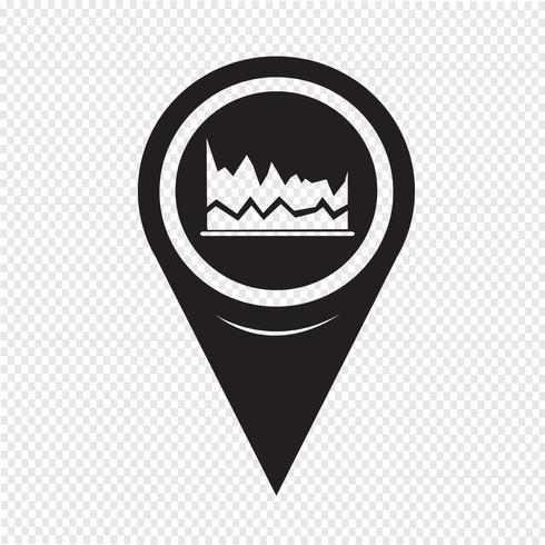 Kartenzeiger-Diagramm-Symbol