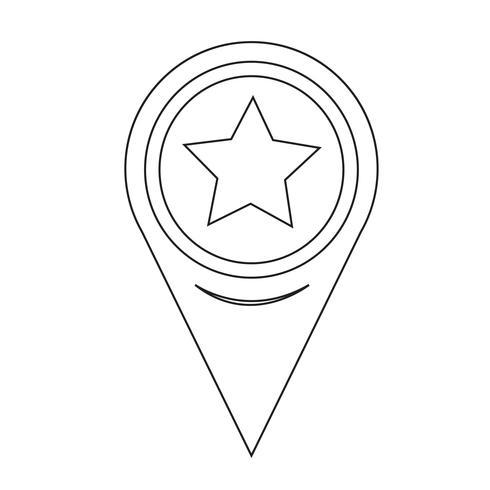 Icône étoile de pointeur de carte
