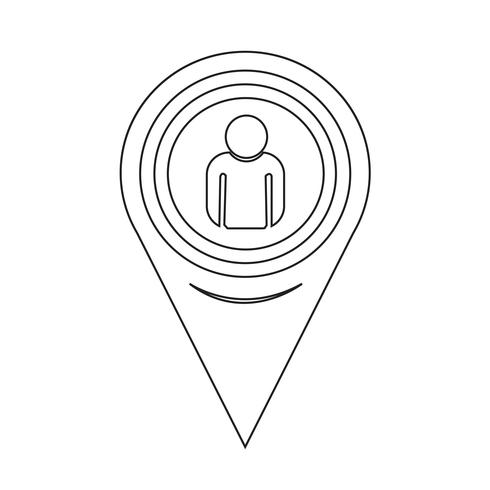 Map Pointer Person Icon