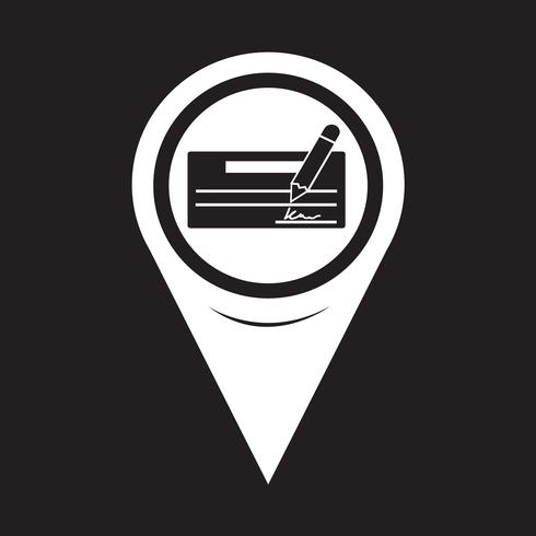 Map Pointer cheque icon