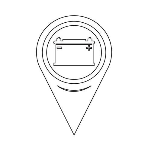 karta pekaren bilbatteri ikon vektor