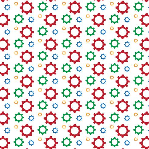 Gear pattern background vector