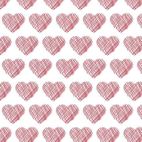 hearts pattern background vector