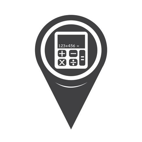 Map Pointer Calculator Icon vector