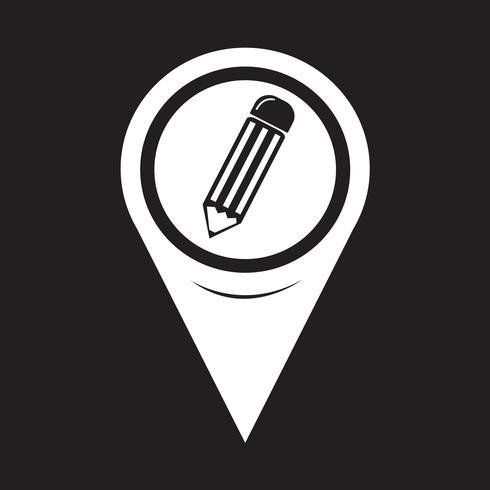 Map Pointer Pencil Icon vector