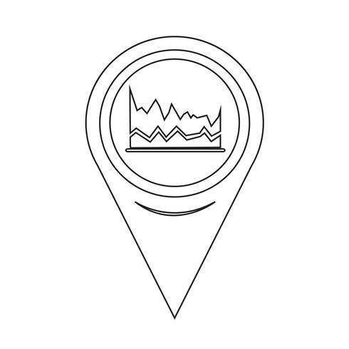 Kartpekaren Diagram ikon vektor