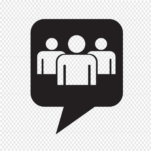 Speech bubble Group people icon vector