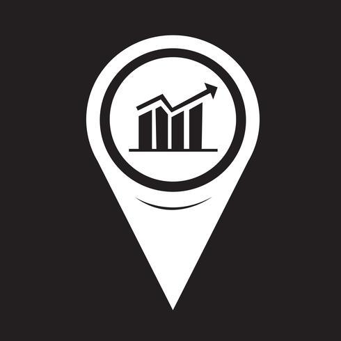 Icône de graphique de pointeur de carte
