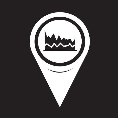 Icona del grafico del puntatore della mappa
