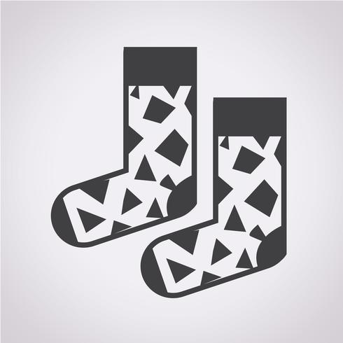 Chaussette icône symbole signe