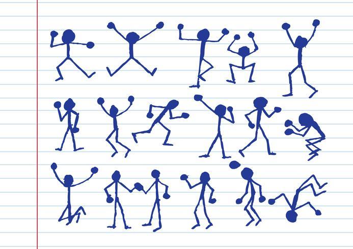 icônes d'activité de personnes en illustration