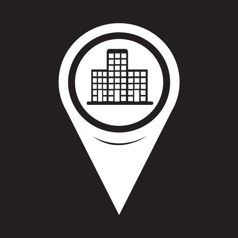Kartpekare byggnad ikon vektor