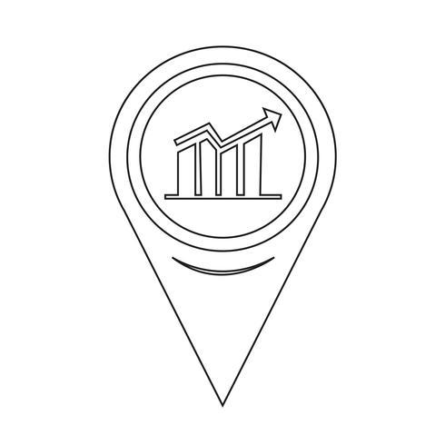 Map Pointer Graph Icon vector