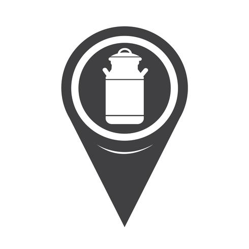 Kartpekare Milk Can Icon vektor