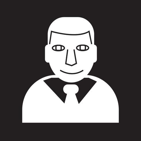 Affärsman ikon symbol tecken