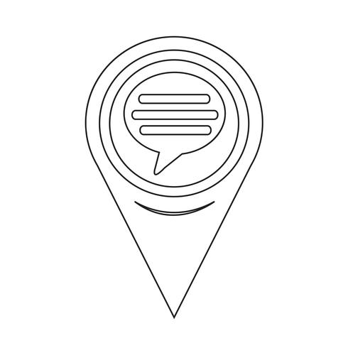 Map Pointer Comment Icon vector