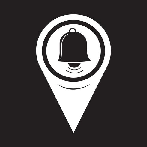 Map Pointer Bell Icon vector
