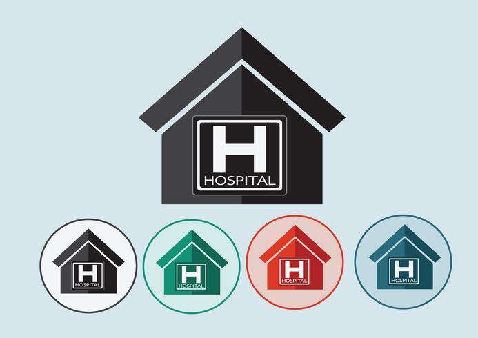 Hospital building icon design in illustration vector