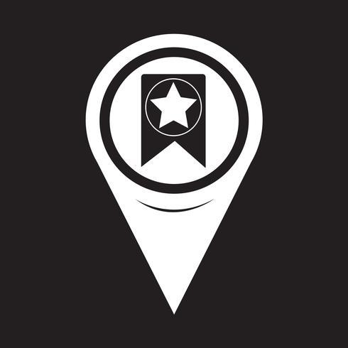 Map Pointer Web Bookmark Ribbon Icon vector