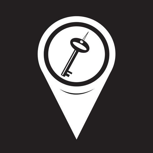 Map Pointer Key Icon vector