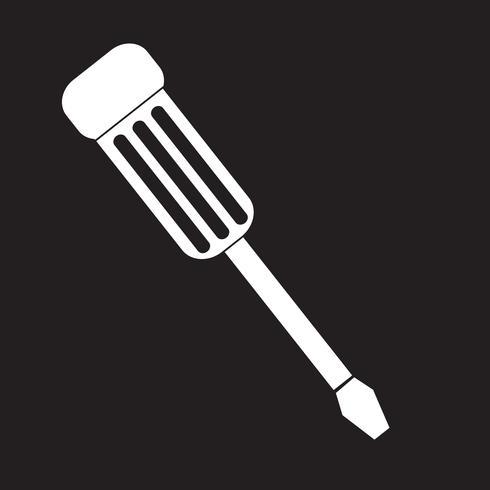 skruvmejsel ikon symbol tecken vektor