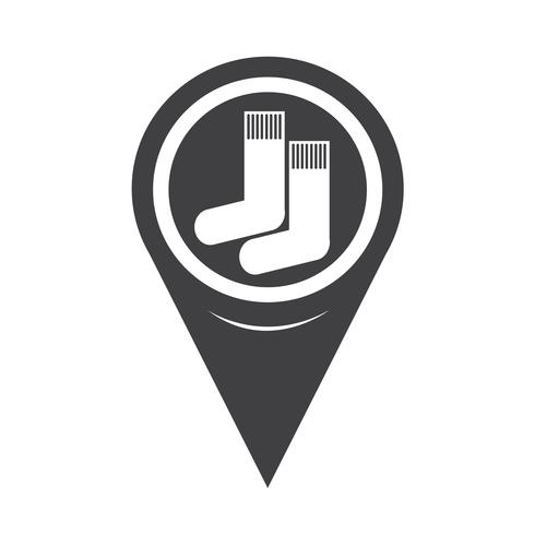 Map Pointer Sock Icon vector
