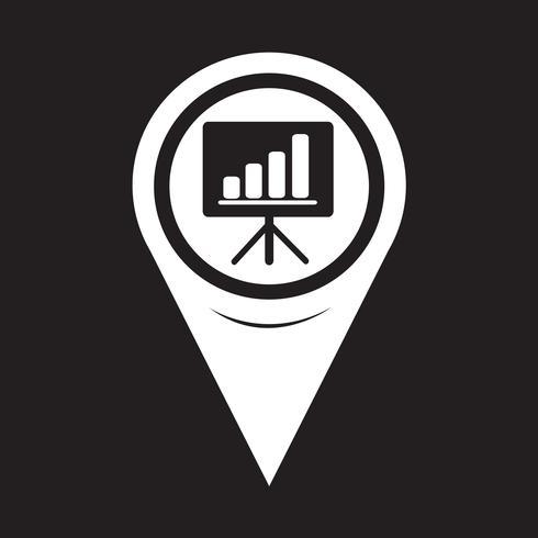 Kartpekaren Presentationsbrädans ikon vektor