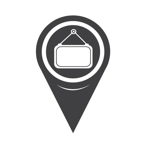 Map Pointer Blank Label Icon vector