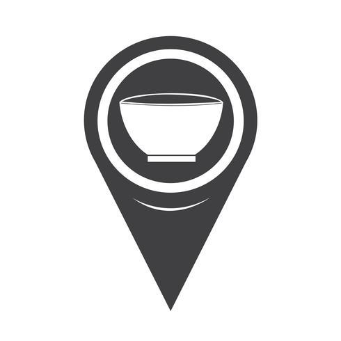 Map Pointer Bowl Icon vector