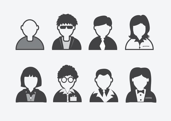 uppsättning av människor ikoner vektor