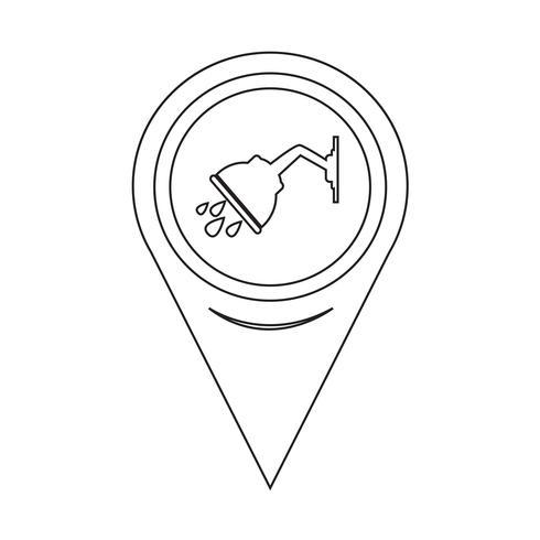 Icona doccia puntatore mappa