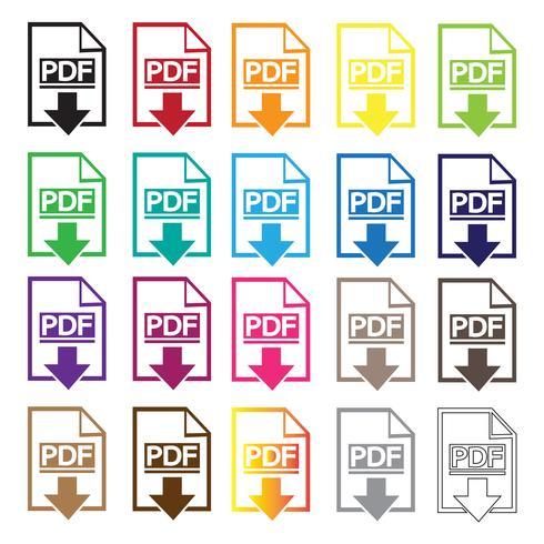 PDF icon  symbol sign
