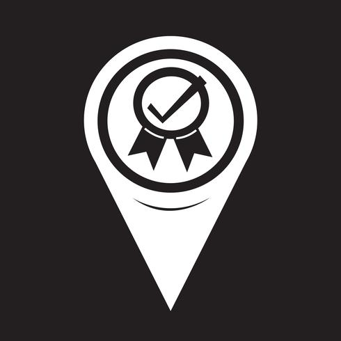 Map Pointer Certified Icon vector