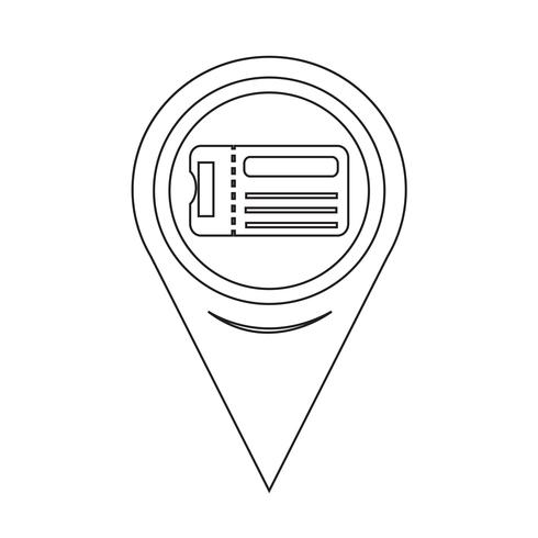 Map Pointer Ticket Icon vector