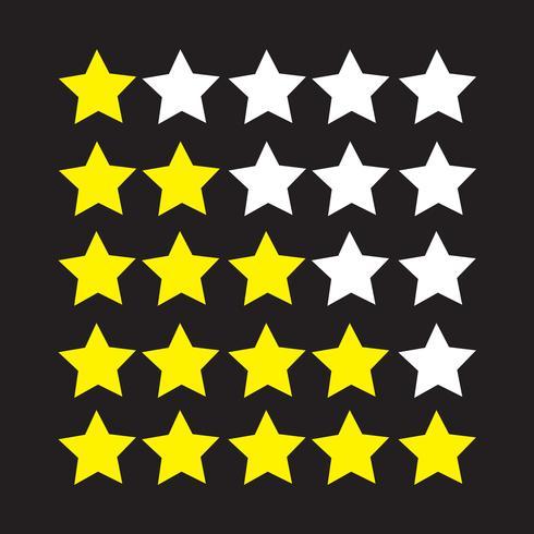Icono de estrellas de calificación vector