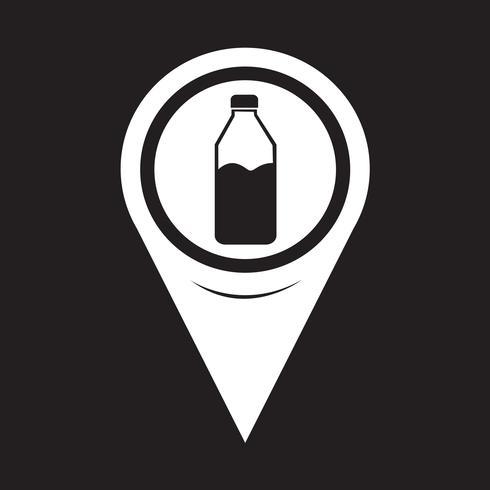 Icono de botella de puntero de mapa vector