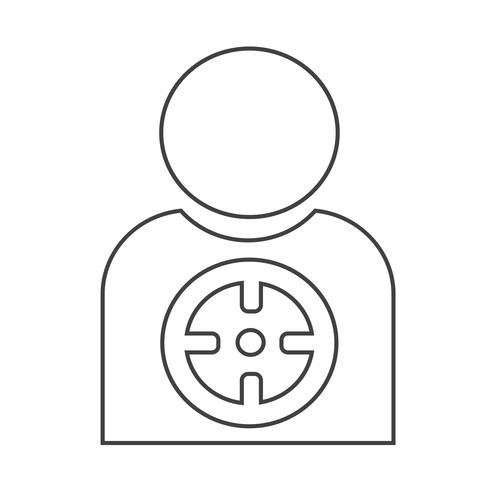 Target icon background vector