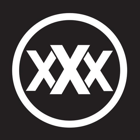 XXX  icon  symbol sign vector