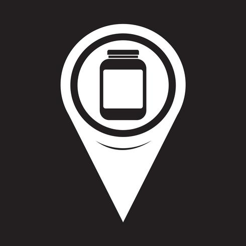 Map Pointer Jar-ikonen vektor