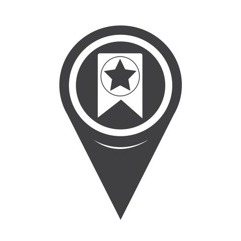 Map Pointer Web Bookmark Ribbon Icon vector