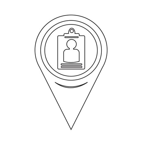 Map Pointer Identity Card Icon