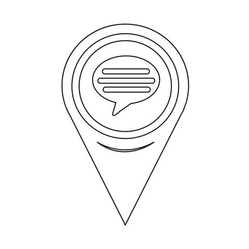 Map Pointer comment icon