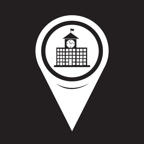 karta pekaren skolan byggnad ikon vektor