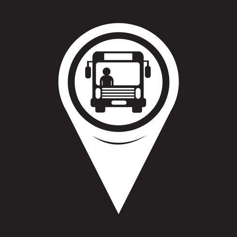 Map Pointer Bus Icon vector
