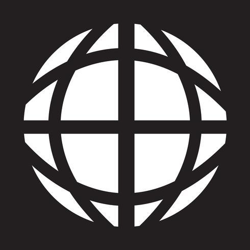 Icono de globo terráqueo