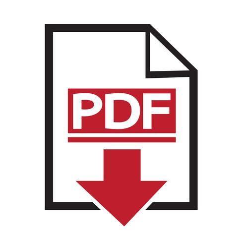 Icono de PDF símbolo de signo