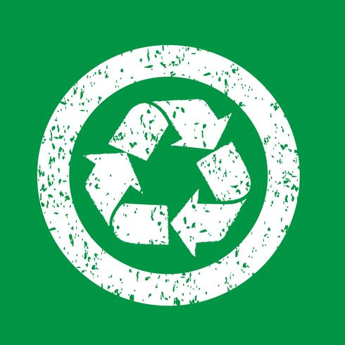 Recycle sign  symbol sign vector