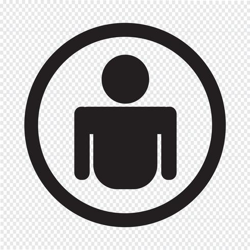 Person icon  symbol sign vector