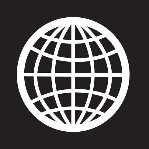 Signe symbole icône globe vecteur