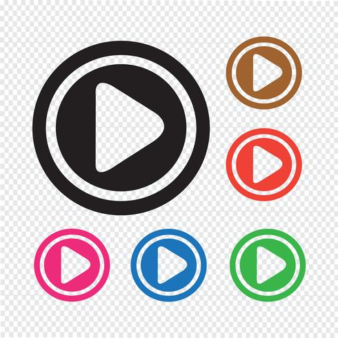 Play icon button vector